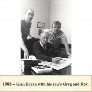 Glen Bryan with Greg & Roy