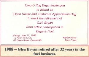 Bryan's Fuel History