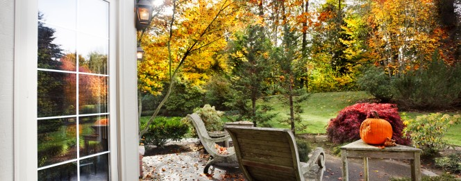 home outdoors during fall
